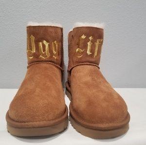 UGG x Jeremy Scott UGG Life Chestnut Boots sz 9